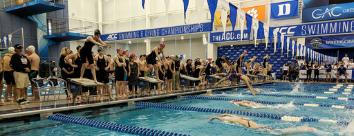 Girls Swim team places 4th at NCISAA Championships