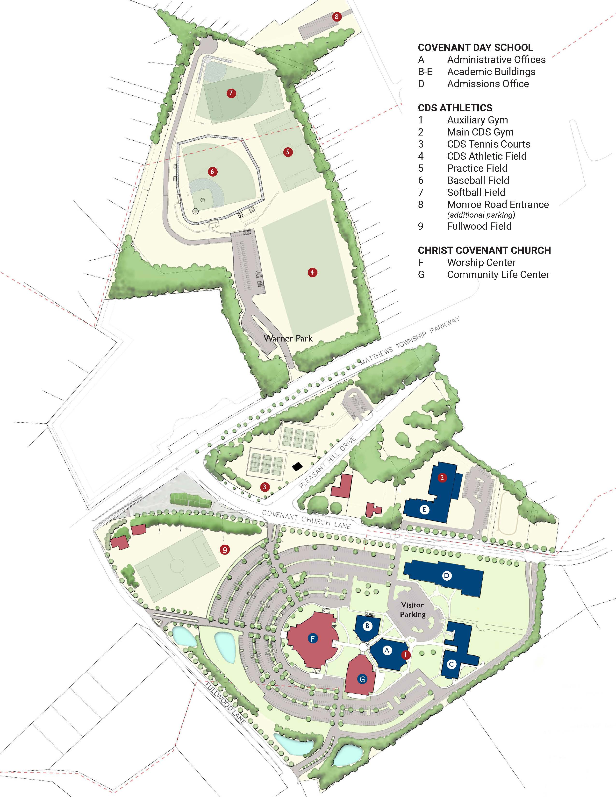 Campus Map Covenant Day School